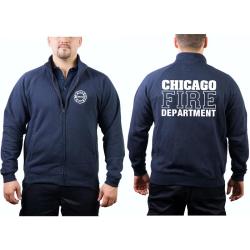 CHICAGO FIRE Dept. Sweat jacket navy, work