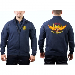 CHICAGO FIRE Dept. Sweat jacket navy, Squad 3 Eagle Wings...