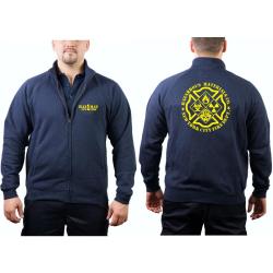 "Sweat jacket navy, ""HAZ MAT 1 - NEW YORK""..."