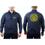 "Sweat jacket navy, ""HAZ MAT 1 - NEW YORK"" Gefahrguteinheit"
