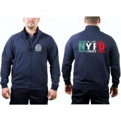 "Sweat jacket navy, ""ENG 55, Little Italy -..."