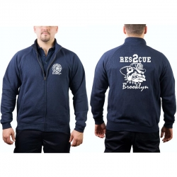 "Sweat jacket navy, ""Rescue 2 Brooklyn - bulldog"""