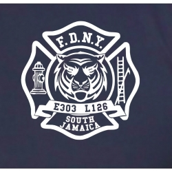 T-Shirt navy, New York City Fire Dept. Princeton St....