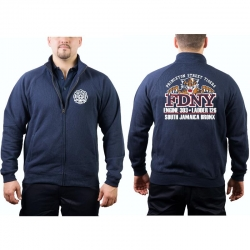 Sweat jacket navy, FDNY E303/L126 Princeton St. Tigers...