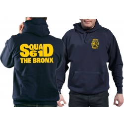 "Hoodie azul marino, ""SQUAD 61 THE BRONX"""