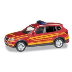 Model car 1:87 BMW X3 KdoW FF Vaterstetten (BAY)