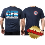 CHICAGO FIRE Dept.- City flag-design, T-Shirt, multicolor, M
