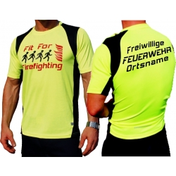 "Laufshirt neonyellow, ""Fit for Firefighting"",..."