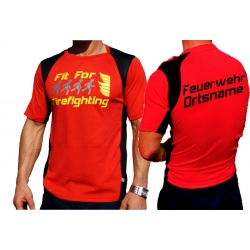 "Laufshirt red, ""Fit for Firefighting"",..."