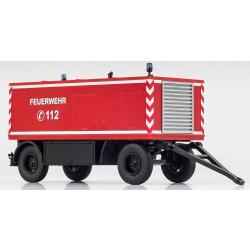 Model car 1:87 Anhänger Polyma/Kluth 175 KVA Feuerwehr