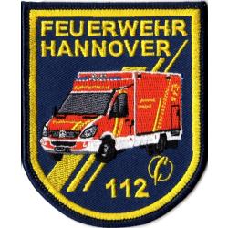 Patch Feuerwehr Hannover RTW (8 x 10 cm), SammlerPatch...