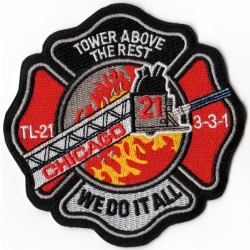 Company Patch: Chicago Tower Ladder-21 (100 % bestickt,...