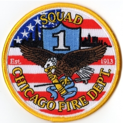 Company Patch: Chicago Squad 1 (100 % bestickt, 10 cm)