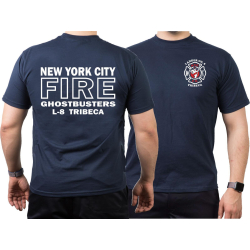 T-Shirt navy, New York City Fire Dept. Ghostbusters...