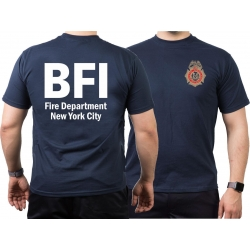 T-Shirt azul marino, New York City Fire Dept. BFI (Bureau...