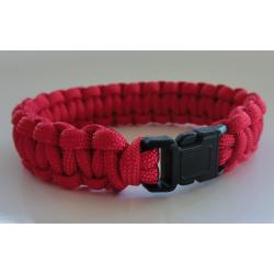 Parachutecord-Armband - rot - (geflochtenes...