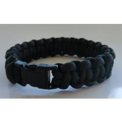 Parachutecord-Armband - black - (geflochtenes...