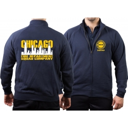 CHICAGO FIRE Dept. Sweat jacket navy, Squad zweifarbige...