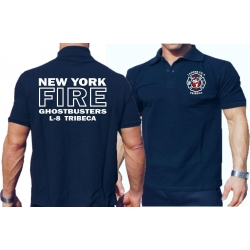 Poloshirt navy, New York City Fire Dept. Ghostbusters...