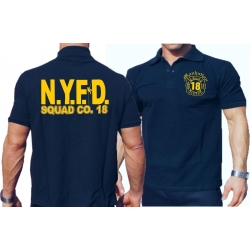 Polo navy, NYFD Squad 18 Manhattan