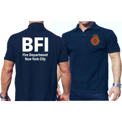 Poloshirt navy, BFI (Bureau of Fire Investigation/Fire...