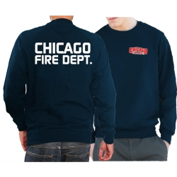 CHICAGO FIRE Dept. Sweat navy, with moderner font