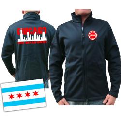 CHICAGO FIRE Dept. SmartSoftshelljacke azul marino, con...
