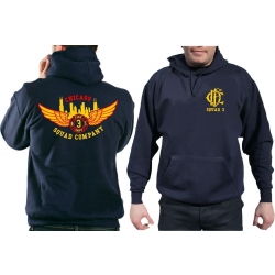 CHICAGO FIRE Dept. Squad 3 Eagle Wings Skyline, navy Hoodie