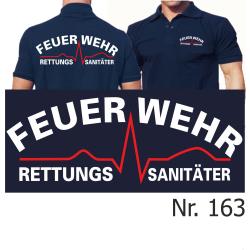 Polo navy, Rettungssanitäter white/red