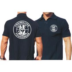 Polo blu navy, FF bianco/Logo bianco