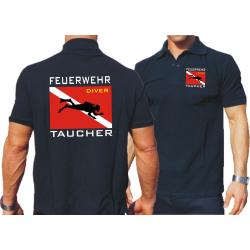 """Polo blu navy, """"Feuerwehr Taucher"""" con Diver..."""