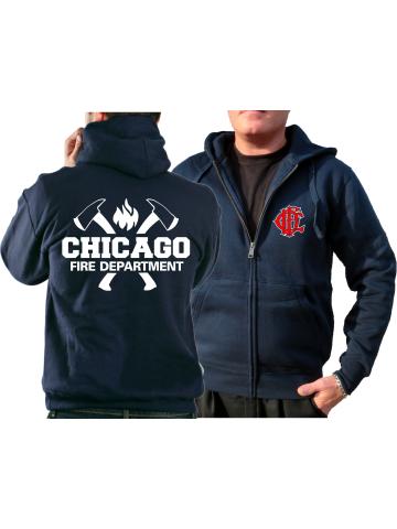 mit Äxten Paramedic zweifarbig Chicago Fire Dept T-Shirt navy
