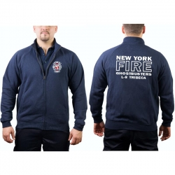 Sweat jacket navy, Ghostbusters NYC Ladder 8 Tribeca...