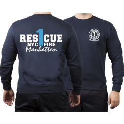 Sweat navy, Rescue1 (blue) Manhattan