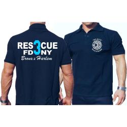 Polo navy, Rescue3 (blue) Bronx & Harlem