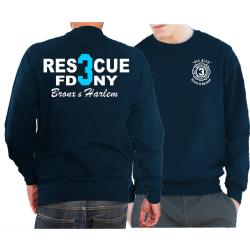 Sweat navy, Rescue3 (blue) Bronx & Harlem