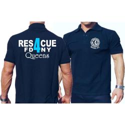 Polo navy, Rescue4 (blue) Queens
