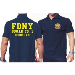 Polo navy, FDNY Squad Co. 1 Brooklyn