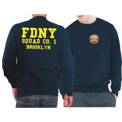 Sweat marin, FDNY Squad Co. 1 Brooklyn