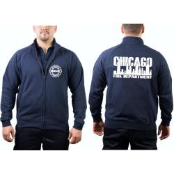 CHICAGO FIRE Dept. Chaqueta de sudor azul marino, work...