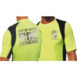 Laufshirt neonamarillo, City of Miami Fire Rescue en...
