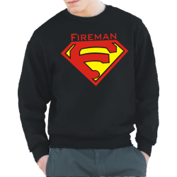 "Sweat black, ""Fireman"" anstatt Superman..."