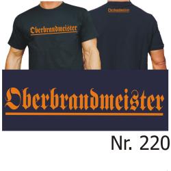"T-Shirt black, ""Oberbrandmeister"" orange (Brust..."
