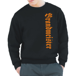 "Sweat black, ""Brandmeister"" vertikal in orange,..."