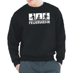 Sweat black, FEUERWEHR 3 Motive: TH, EH und...