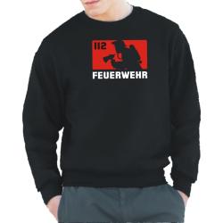Sweat black, 112 - FEUERWEHR (rot/weiß)