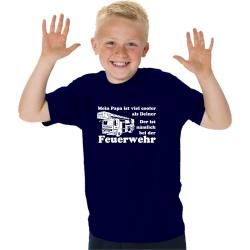 Kinder-T-Shirt marin, Medans Papa ist viel cooler als...
