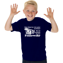 Kinder-T-Shirt marin, Medans Onkel ist viel cooler als...