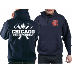 CHICAGO FIRE Dept. axes CFD-Emblem, navy Hoodie