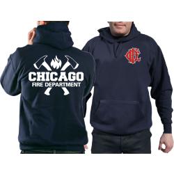 CHICAGO FIRE Dept. axes CFD-Emblem, azul marino Hoodie